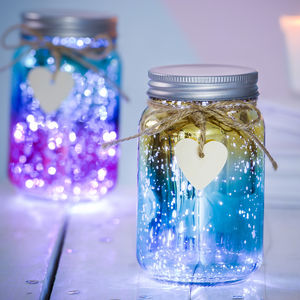 Personalised Sparkle LED Ombre Jar - children's room