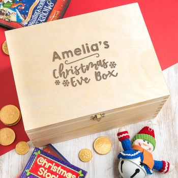 children's christmas eve box - christmas eve box for toddlers - wooden christmas eve box - personalised christmas eve box - christmas eve box ideas - xmas eve boxes