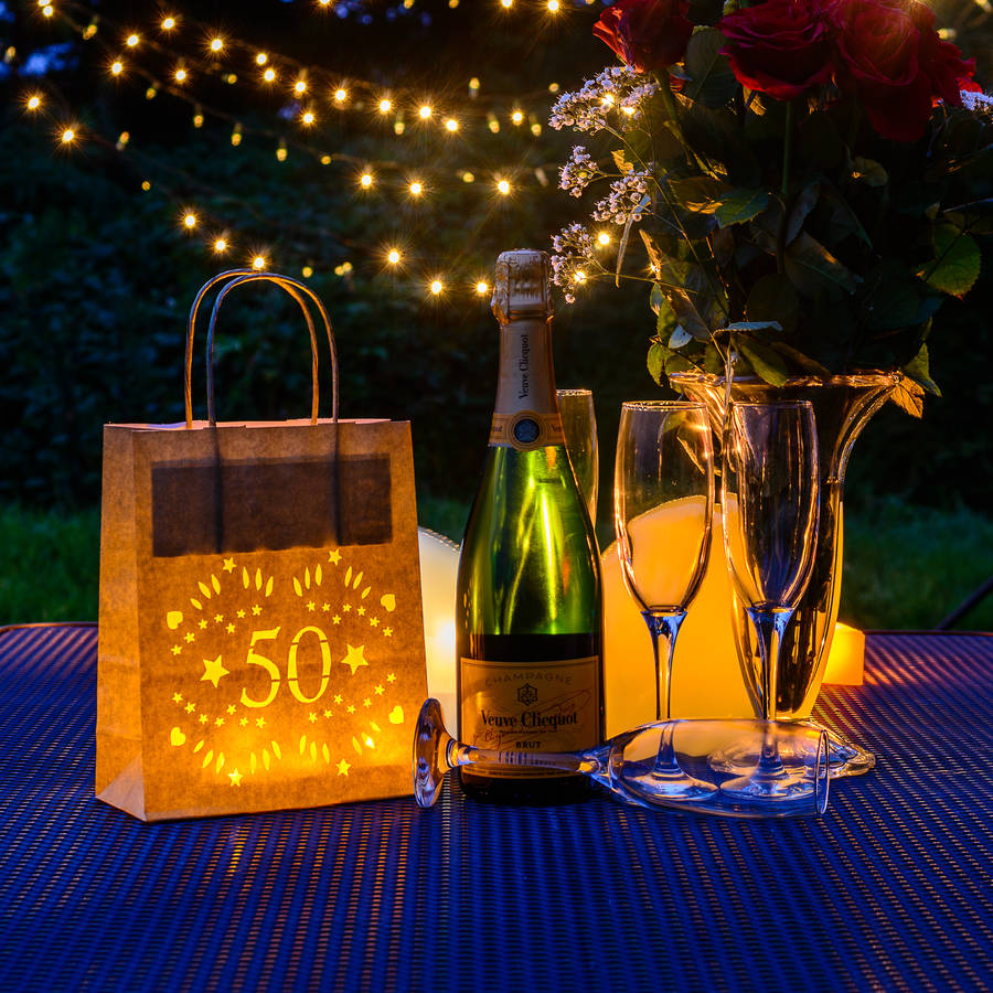 50th birthday decor luminarias party lantern bags by for 50th birthday party decoration
