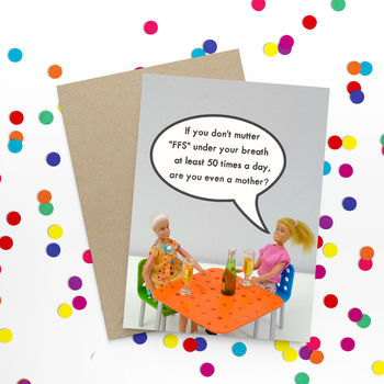 Sweary Funny Mummy Card