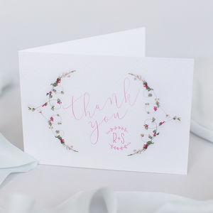 Wedding Thank You Card: La Violeta Collection