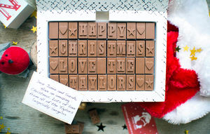 Personalised Chocolate Card In An Extra Large Box - chocolates