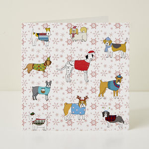 Christmas Canines Greeting Card - new in christmas