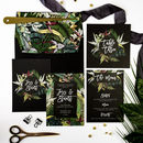 Tropical Botanics Wedding Invites