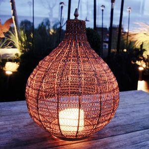 Copper Wire Lantern - new in garden