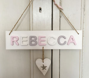 Personalised Vintage Heart Plaque - door plaques & signs