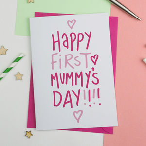 Happy First Mummy's Day Mothers Day Card - mother's day cards & wrap