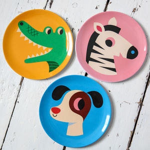 Retro Design Animal Melamine Plate - dining room