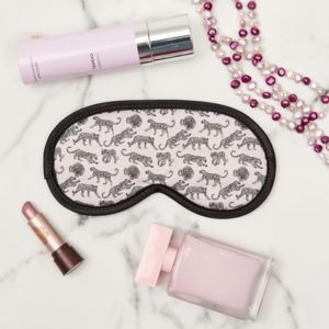 Eye Mask In Leopard With Or W/O Lavender - bedroom