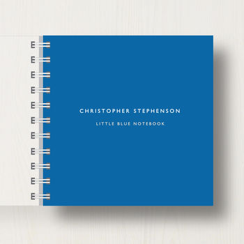 Personalised Little Blue Notebook