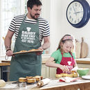 Personalised Daddy And Me Apron Set