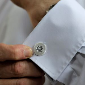 Silver Bee Cufflinks With A Secret Message - gifts for him sale