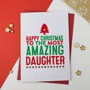 Amazing Daughter Christmas Card