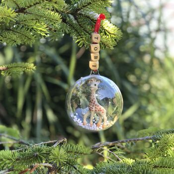Baby's First Personalised Christmas Bauble