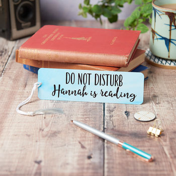 Personalised Watercolour Do Not Disturb Bookmark