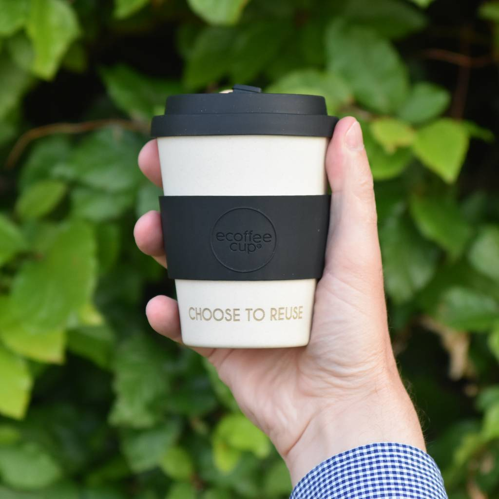 Personalised 'Choose To Reuse' Bamboo Coffee Cup