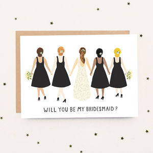 'Will You Be My Bridesmaid?' Card - bridesmaid cards