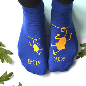 Personalised Cheeky Monkey Daddy Socks - stocking fillers