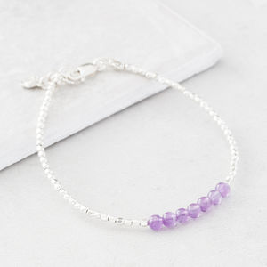 February Birthstone Bracelet - women's jewellery