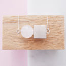 Round And Square Necklace