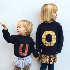 Personalised Kids And Babies Black Long Sleeve T Shirt - brand new partners