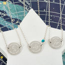 Personalised Sterling Silver Zodiac Disc Necklace
