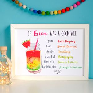 Personalised Cocktail Art Print