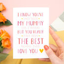 Personalised Best New Mummy Card