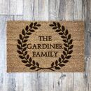 Personalised Roman Style Wreath Doormat