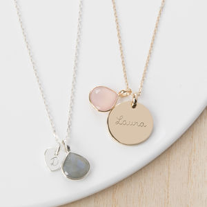 Personalised Gemstone Necklace - gifts for her