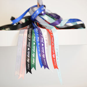 Personalised 'Save The Date' Ribbon - ribbon & wrap