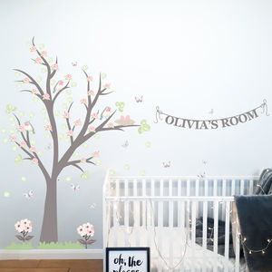 Spring Bird's Nest Tree Wall Stickers