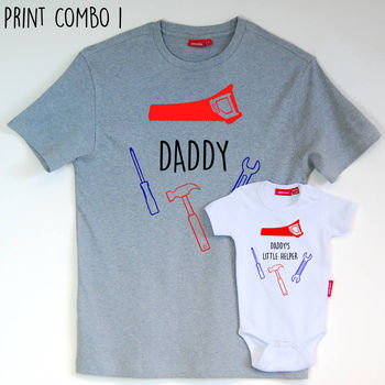 Daddy's Little Helper T Shirt Set