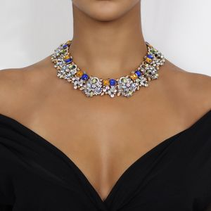 Colourful Full Statement Bib Necklace - statement jewellery