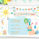 Children's Birthday Party Invites 'Bunny'