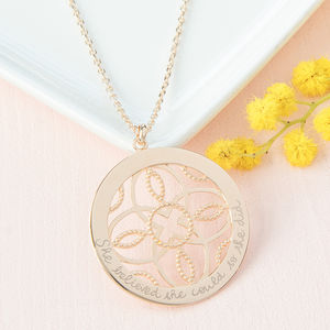 Personalised Arabesque Necklace - gifts for grandparents