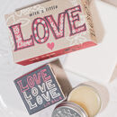 Love Love Natural Soap Bar And Lip Balm Duo