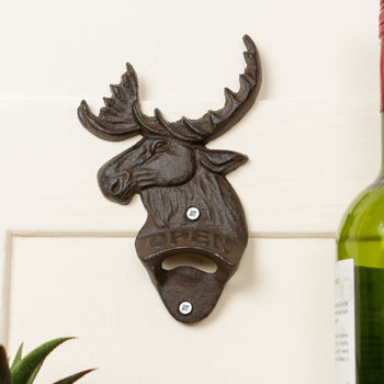 Cast Iron Moose Wall Mounted Bottle Opener Gift