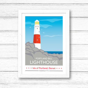 Portland Bill Lighthouse Daytime Print - view all sale items