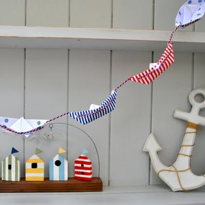 Paper Boat Bunting Garland - room decorations
