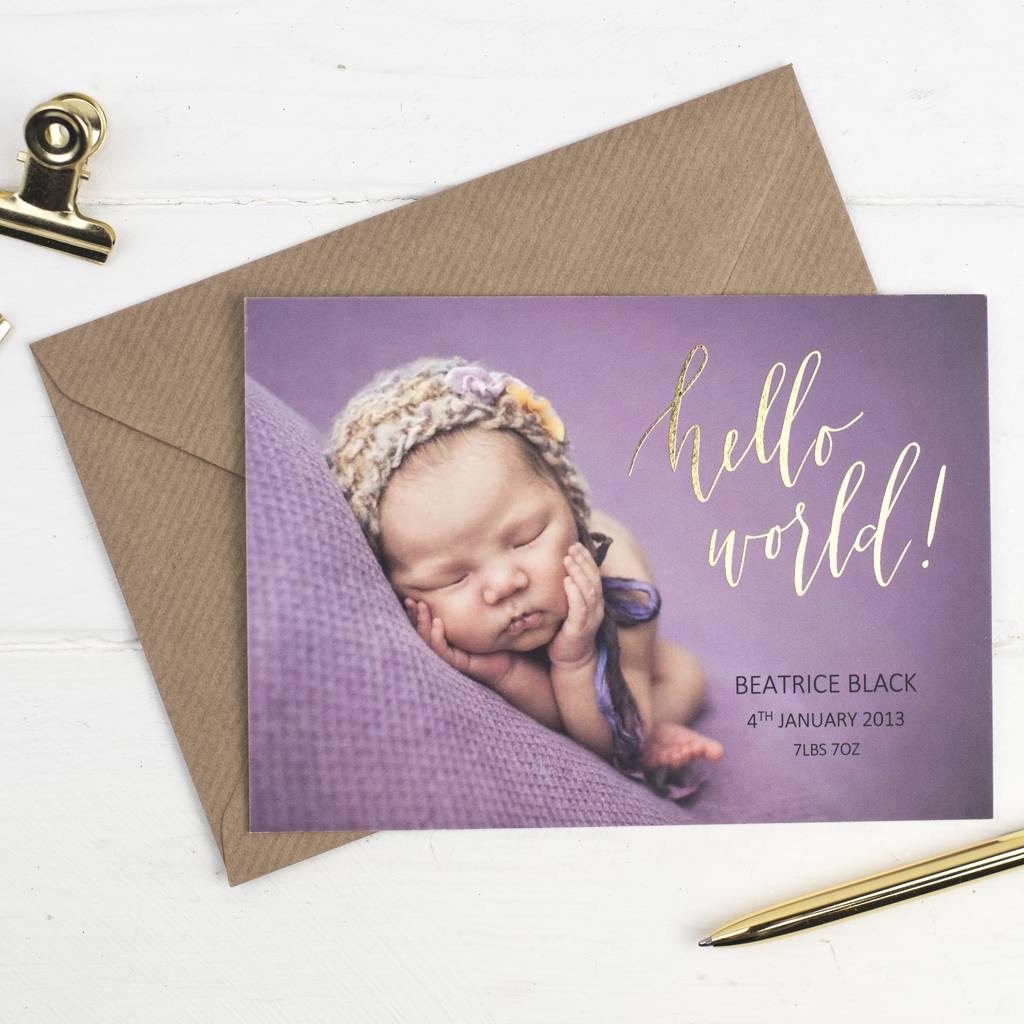 20 new baby announcement cards by emilie rose