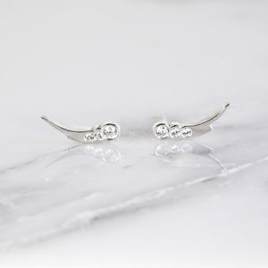 Celestial Diamond Shooting Star Stud Earrings