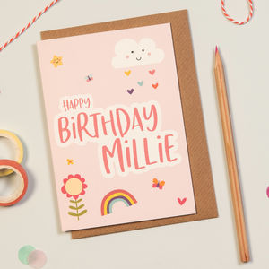 Cloud And Rainbow Birthday Card