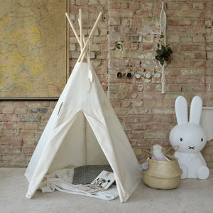 Natural Cotton Teepee - tents, dens & teepees