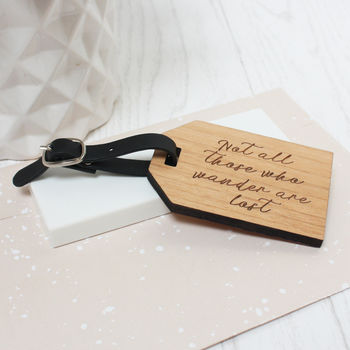 Personalised Travel Quote Luggage Tag