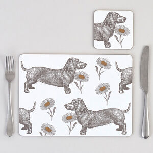 Dog And Daisy Placemat Set Of Four