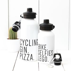 Personalised 'Favourite Things' Water Bottle - sport-lover