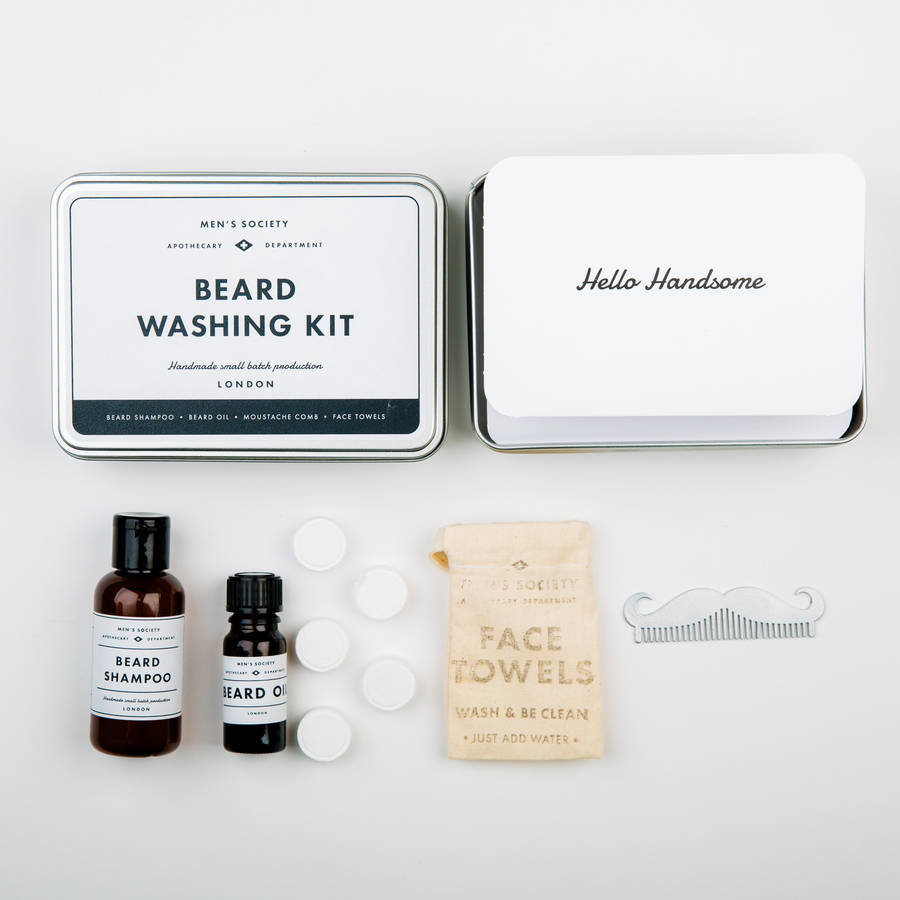 beard washing kit by men 39 s society. Black Bedroom Furniture Sets. Home Design Ideas