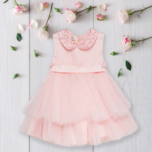 Baby Girls Tulle Diamante Dress - clothing