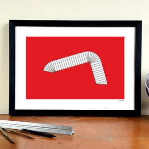 'Cantilever Roof' Minimalist Manchester United Print - posters & prints